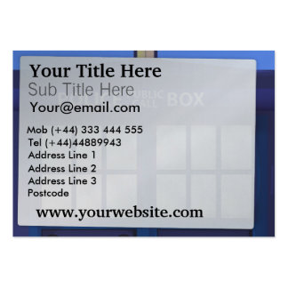 Police Box Business Card Templates
