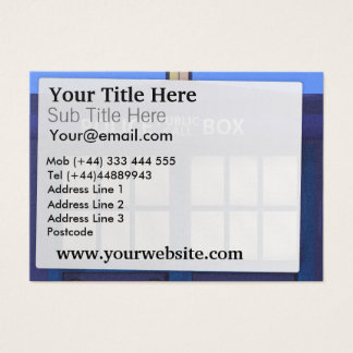 Police Box Business Card