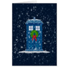 """""""Police Box in Christmas Snow"""" Card"""