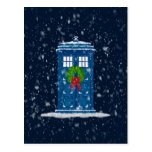 """Police Box in Christmas Snow"" Post Card"