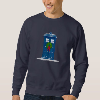 """Police Box in Christmas Snow"" Pullover Sweatshirt"