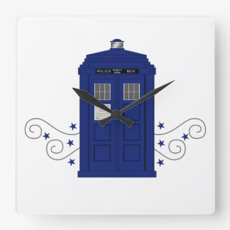 Police Box Swirls Wall Clock