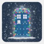 """""""Police Box with Christmas Lights & Snow"""""""
