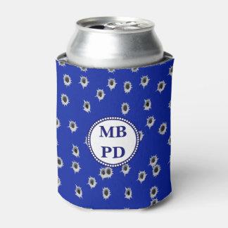 Police Bullet Holes  Monogram Can Cooler
