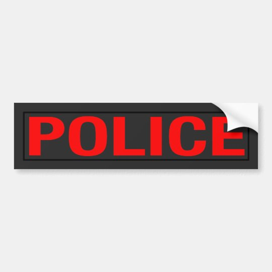 """POLICE"" BUMPER STICKER"