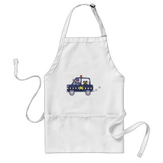 Police Car Adult Apron
