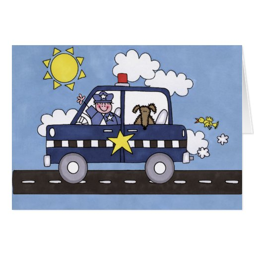 Police Car Greeting Cards