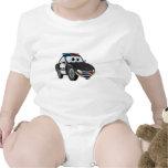 Police Car Cartoon 2 BWB Baby Bodysuits