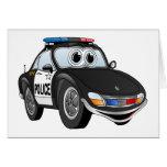 Police Car Cartoon 2 BWB Card