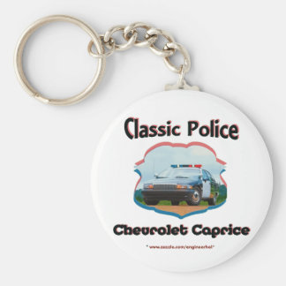 Police Car Chevrolet Caprice Classic Basic Round Button Key Ring