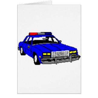 POLICE CAR DESIGN GREETING CARD