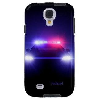 Police Car Full Lights Blinking  Samsung Galaxy S4 Galaxy S4 Case
