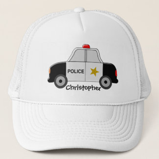 Police Car Just Add Name Trucker Hat
