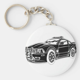 police car key ring