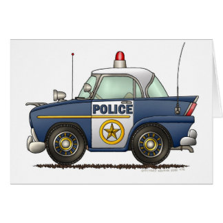 Police Car Law Enforcement Card