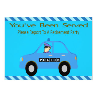 Police Car Officer Retirement Invitation