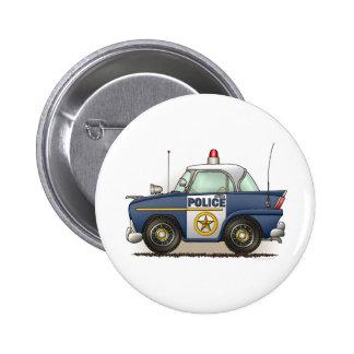 Police Car Police Crusier Cop Car Button Pin