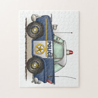 Police Car Police Crusier Cop Car Jigsaw Puzzle