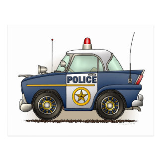 Police Car Police Crusier Cop Car Post Card
