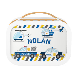 Police cars Lunch box, Boys School Lunch box