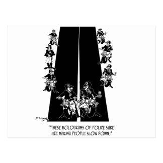 Police Cartoon 6269 Postcard