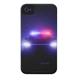 Police Cop   Car Full Lights Blinking iPhone 4 Cover