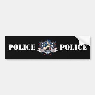 Police Crest Bumper Stickers