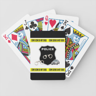 Police Crime Scene Bicycle Playing Cards