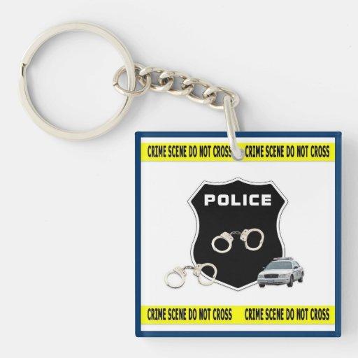 Police Crime Scene Key Chain