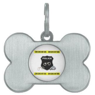 Police Crime Scene Pet Name Tag