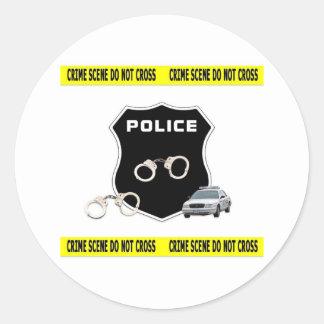 Police Crime Scene Sticker
