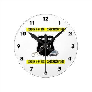 Police Crime Scene Wall Clocks