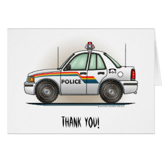 Police Cruiser Car Cop Car Card
