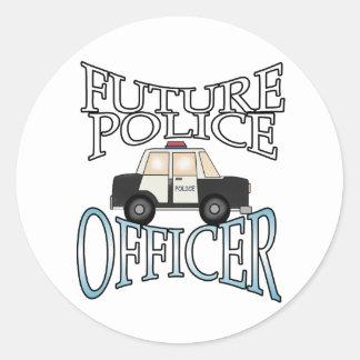 Police Cruiser Future Police Officer Classic Round Sticker