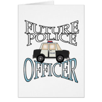 Police Cruiser Future Police Officer Greeting Card