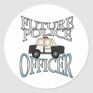 Police Cruiser Future Police Officer Round Sticker