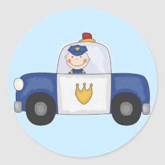 Police Cruiser T-shirts and Gifts Round Sticker