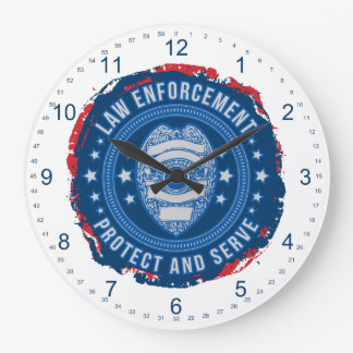 Police Department Seal of Safety Clock