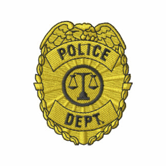 Police Dept. Badge Embroidered Polo Shirts