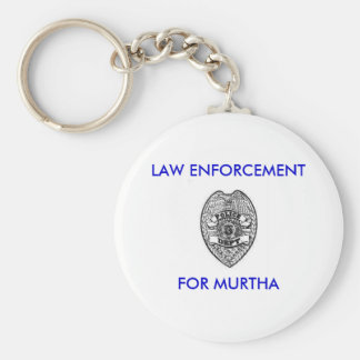 police_dept_badge, LAW ENFORCEMENT, FOR MURTHA Basic Round Button Key Ring