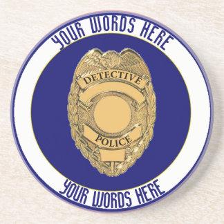 Police Detective Badge Custom Coaster