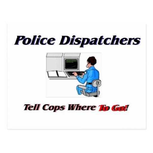 Police Dispatchers Postcards