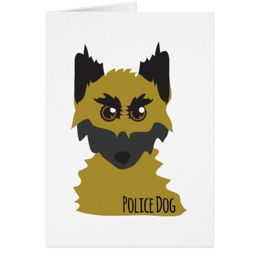 Police Dog Card