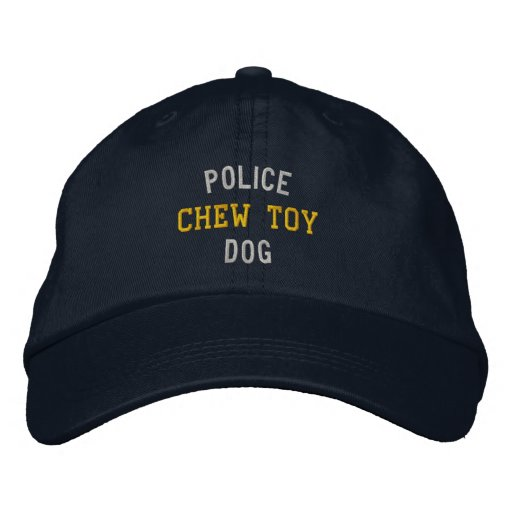 Police Dog Chew Toy Embroidered Hats