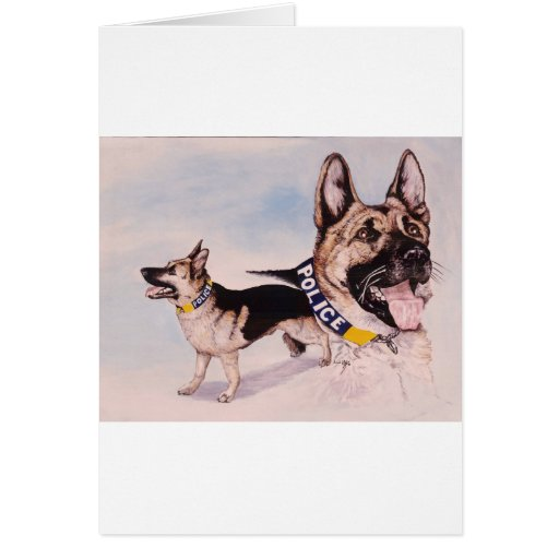 Police Dogs for Kids help phone Greeting Card