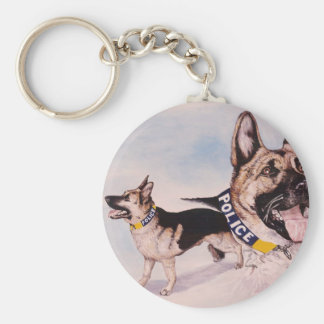 Police Dogs for Kids help phone Basic Round Button Key Ring