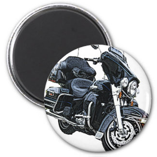 Police Edition Harley Davidson 6 Cm Round Magnet