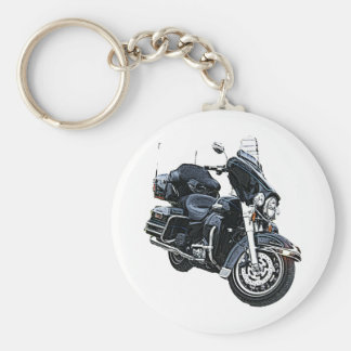 Police Edition Harley Davidson Basic Round Button Key Ring