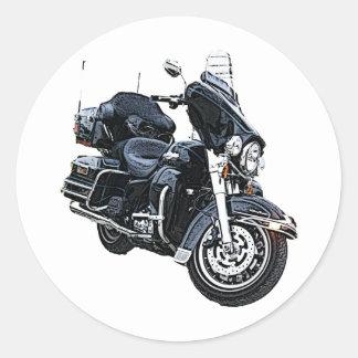 Police Edition Harley Davidson Round Sticker