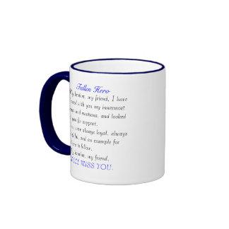 Police Fallen hero Ringer Mug